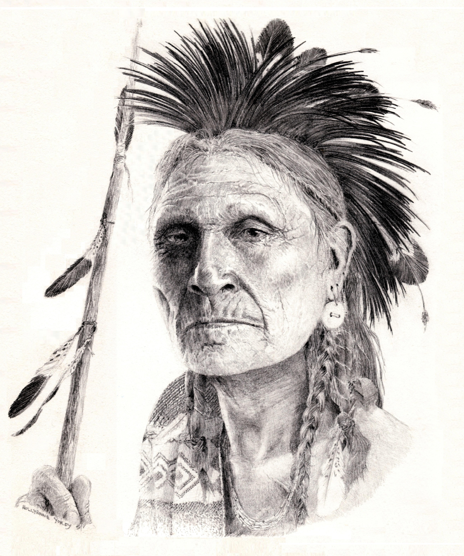 Drawing Faces Dakota Warrior
