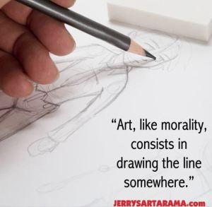 Art, like morality, consists