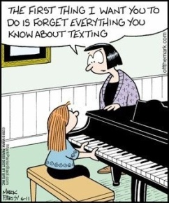 forget texting while playing piano