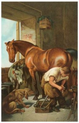 old-poster-of-a-farrier-artist-unknown